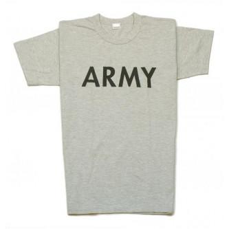 Тениска   100 процента памук    армейска   с надпис   цвят сив