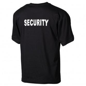"""Тениска черна с надпис  """"Security"""""""