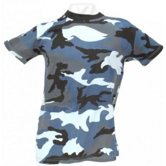 Тениска камуфлажна   скай-блу камо   100 процентапамук