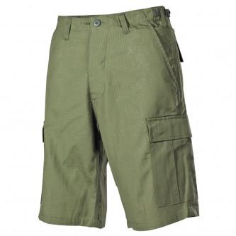 Къси панталони , 100% памук , рип-стоп , цвят '' олив'' .