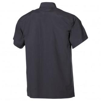 Риза с къс ръкав , черна , микрофибър