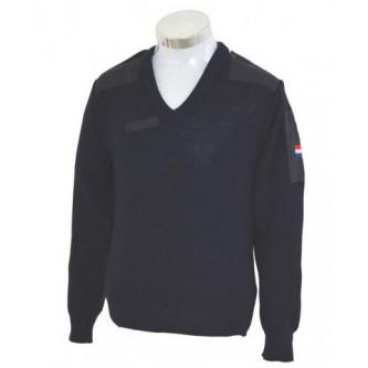 Пуловер от армията на Дания   син   100 процента вълна .