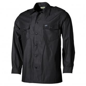 Риза с дълъг ръкав , черна
