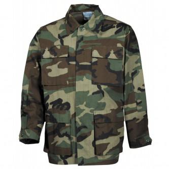 Риза , тактическа , US BDU Field Jacket, Rip Stop, woodland