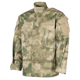 Риза-яке , камуфлажна , рип-стоп , 100% памук, HDT camo green