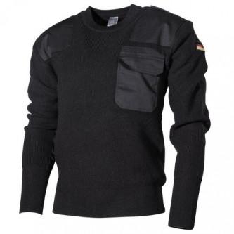 Класически немски BW пуловер , цвят черен,