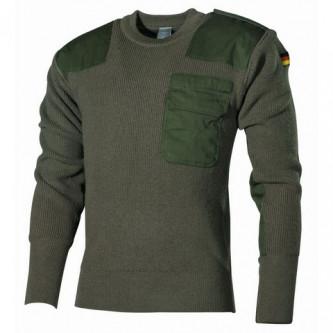 Класически немски BW пуловер , цвят '' OD green''.