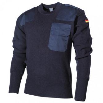 Класически немски BW пуловер , цвят '' МОРСКО СИНЬО''.