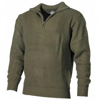 Пуловер ''Navy  '' , зелен .