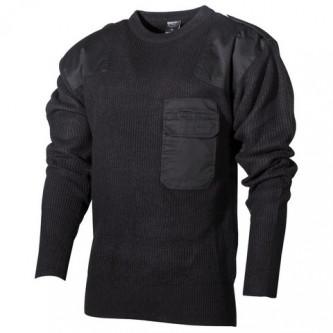 BW пуловер, черен, 100% акрил