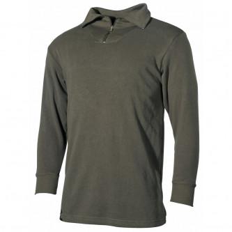 BW Трико блуза, с цип, цвят зелен.