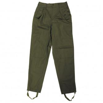 Дамски военен панталон от армията на бивша Чехословакия , цвят ''олив''