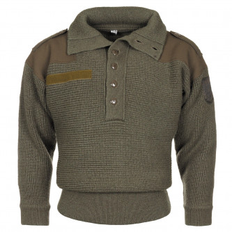 Австрийски военен вълнен пуловер , модел '' ALPIN- OD green'' ползван