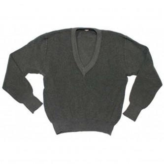 Австрийски военен пуловер , цвят сив , стари складови наличности .
