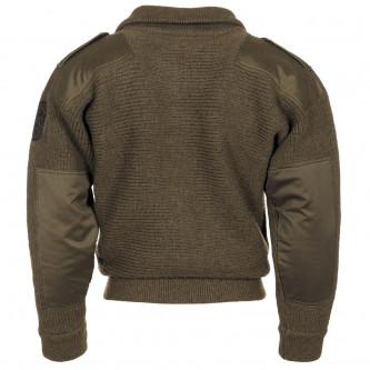Австрийски военен вълнен пуловер с цип''  Knit  ALIPN- OD green''