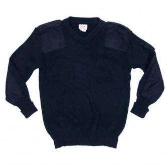 Британски полицейски пуловер , стари складови наличности  , цвят тъмно син .