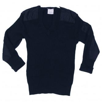Британски '' commando'' пуловер  ,цвят син ,  V-образна яка, стари складови наличности .