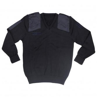 Британски полицейски пуловер , стари складови наличности  , цвят  син   , с велкро панели .