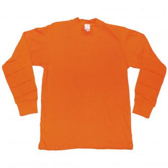 Блуза оранжева с подсилени лакти.