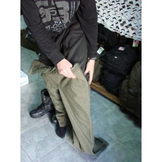 Панталон водоустойчив ''горетекс''зимен ватиран , немска армия , олив , цял страничен цип.