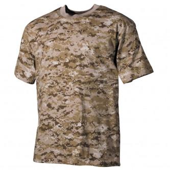 Тениска камуфлажна US classic-style, digital desert, 170 g/m²