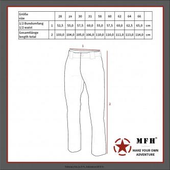 BW Moleskin Панталони  черни големи размери