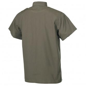 Риза с къс ръкав ,  OD green , микрофибър