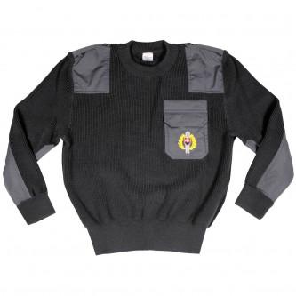 Пуловер от армията на Словакия , цвят сив