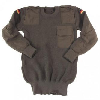 Пуловер от армията на Германия , цвят''  OD green'' , стари складови наличности .