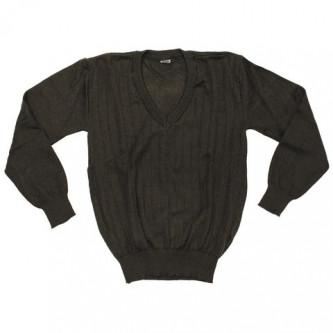 Пуловер от армията на бивша Чехословакия , цвят зелен , стари складови наличности .