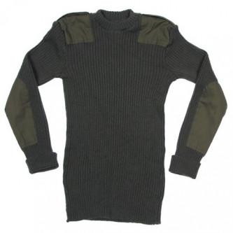 Британски военен пуловер ,цвят зелен , стари складови наличности .