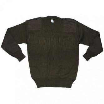 Пуловер от армията на Италия ,цвят зелен , стари складови наличности .