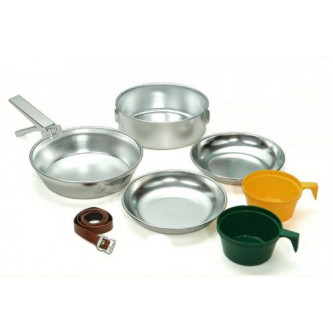 Туристически готварски алуминиев комплект за двама души