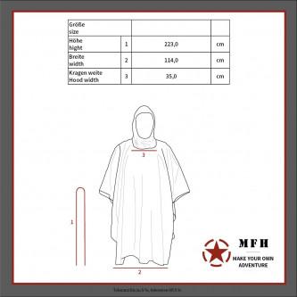Дъждобран   US Poncho   Rip Stop  BW camo    размер  144 x 223 cm