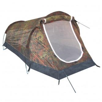 Палатка , едноместна , туристическа , тунелен тип , цвят '' флектарн камо''.