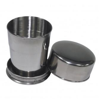 Телескопична сгъваема метална чаша