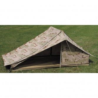 Палатка , военна , от армията на Холандия  , камуфлаж ''триколор дизърт''