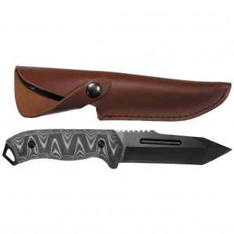 Нож  с  ръкохватака ''микарта''   острие ''танто''