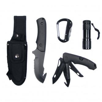 Ножове ловни , комплект с карабинер и фенер .