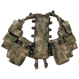 Тактическа жилетка ,  HDT camo green , с различни по размер стационарни джобове .