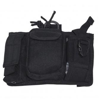 Тактическа чанта , с 5 броя джобове и система ''МОЛЛЕ'' , цвят черен .