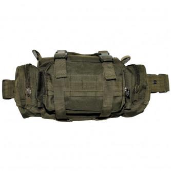 Тактическа чанта за носене на рамо , на ръка и на кръста , цвят олив .