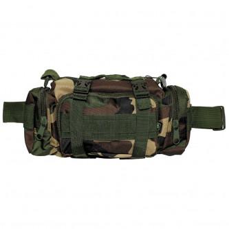 Тактическа камуфлажна чанта за носене през рамо , на ръка , на кръста и на гърдите , цвят'' уудланд камо'' .