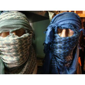Шал , ''Палестина'' , цветове син и черен , 100% памук .