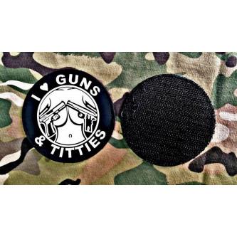 Велкро нашивки , ''GUNS & TITTIES ''