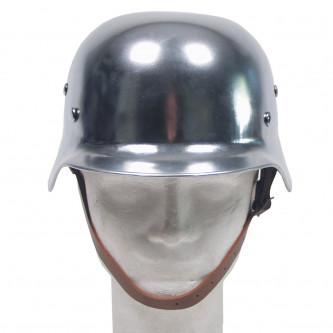 Каска метална , '' , WW II, chrome '' , реплика .