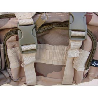 Чанта , тактическа , за носене през рамо , на кръста и на гърдите , цвят ''триколор дизърт камо ''