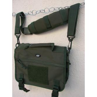 Чанта , модел ''МЕСИНЖЪР'' , система '' молле'' , цвят ''олив'' . Код: 30695В