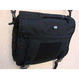 Чанта , модел ''МЕСИНЖЪР'' , система '' молле'' , цвят черен .