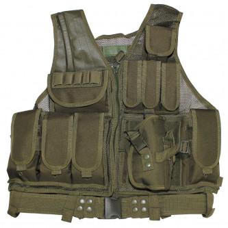 """Тактическа жилетка  """"USMC"""" в комплект с колан и кобур"""